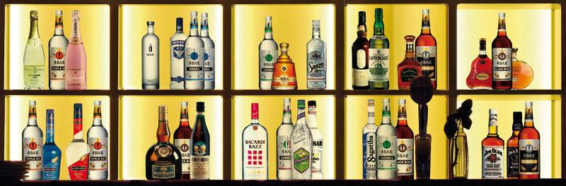 4-Banner. Zeigt eine Bar mit den einzelnen Sorten